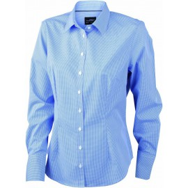 James & Nicholson - Ladies LSL Blouse Check