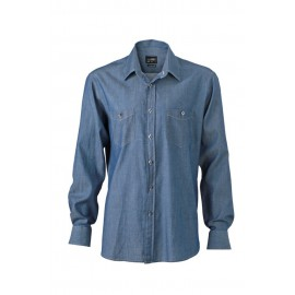 James & Nicholson - Herre Denim skjorte
