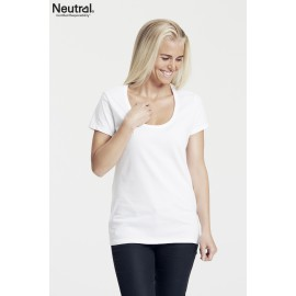 Ladies Deep Roundneck T-shirt
