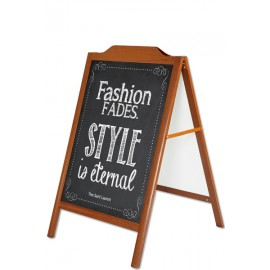 A-Board Wood-Look with decorative top