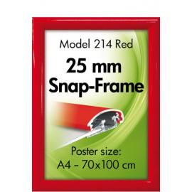 Alu Klik-ramme, væg, 25 mm., rød
