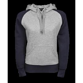 Tee Jays - Ladies Two-Tone Hooded Sweatshirt