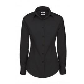B&C Black Tie Dame Skjorte