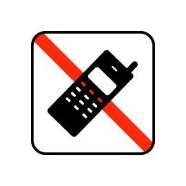IC Skilte - Mobiltelefon skal være slukket