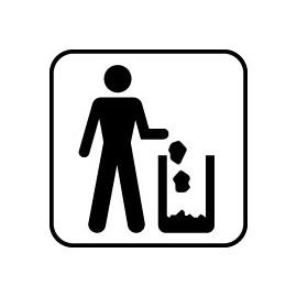 IC Skilte - Affaldsspand