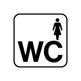 IC Skilte - Dametoilet