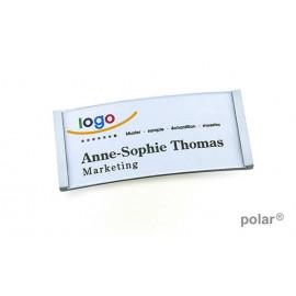 Polar reversskilt, navneskilt, Polar metal
