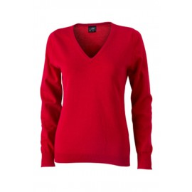 James & Nicholson - Ladie´s V-Neck Pullover