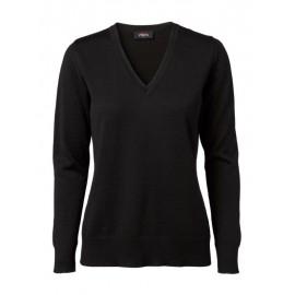 Clipper - Dame pullover med v-hals