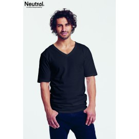 Neutral - Mens deep V-neck T-shirt