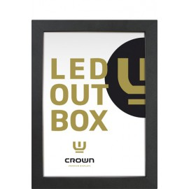 Crown LED-out box. Single sided