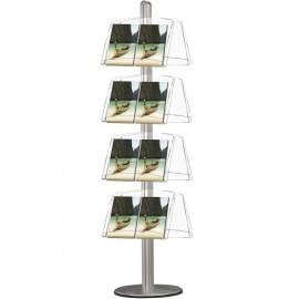 Brochurerholder. Multistand 8 Dobbeltsidet