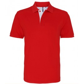 Fruit of the Loom - Mens Classic Fit Contrast Polo