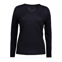 ID - Classic V-neck pullover, dame