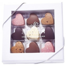 Aalborg Chokoladehjerter 9 stk.