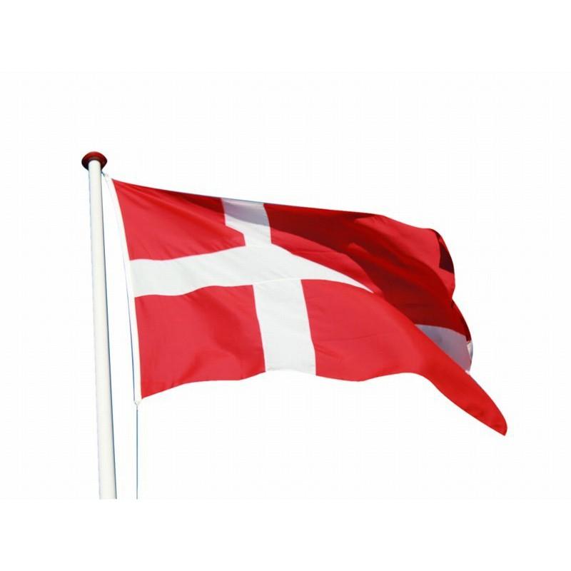 Sensationelle Glasfiber flagstang med vippebeslag incl. vimpel og dannebrogsflag UL67